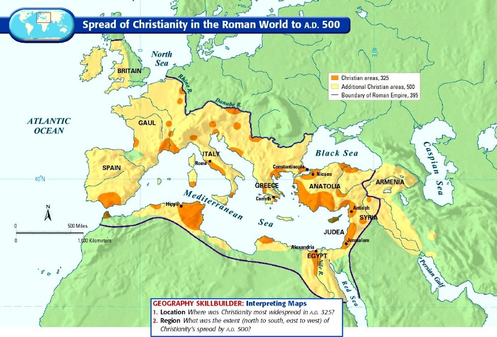 spread of christianity in the roman empire essay