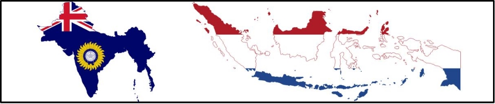 A. States with existing colonies (British in India, Dutch in Indonesia) strengthened their control over those colonies.