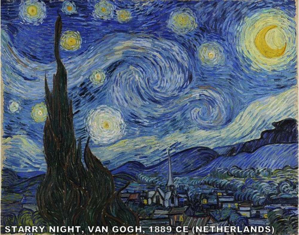Van Gogh's most famous painting was the view from his window in June of 1889.  Which window? The window of the insane asylum that he checked himself into after cutting off his ear.  Yeah…  THAT  window.  He stayed in the Asylum for a year and produced some of his most famous work there.  Van Gogh himself later stated that he painted the stars too large (everyone's a critic).  My favorite part? Using the astronomical records, the largest star in the painting  Starry Night  is actually Venus… a planet.