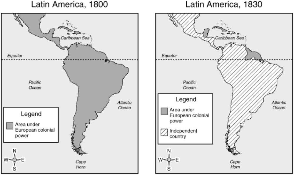 a history of latin american revolutions in the 1800s 1800s revolutions in latin america nationalism and revolutions - 1791-1877 inspired by the revolution in france, slaves led by toussaint l'ouverture napoleon invades portugal 1807 when napoleon invaded portugal in 1807, the portuguese royal family fled for their american colony of brazil.