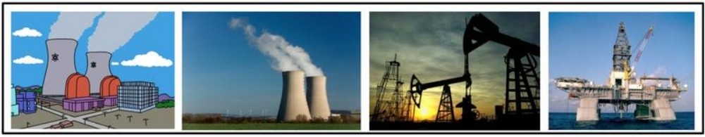D. Energy technologies, including the use of petroleum and nuclear power, raised productivity and increased the production of material goods.