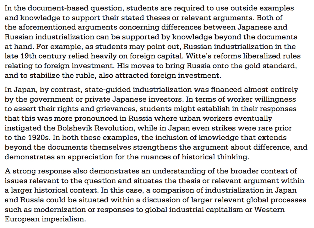 ap us history 2002 dbq 2002 ap® european history free-response questions he tells us, in which the effects of manufactures and agriculture may be compared.