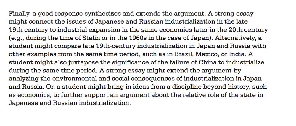 argument research essay rubric