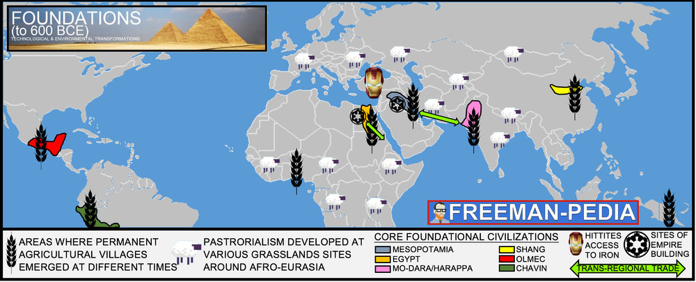 Foundations to 600 bce freemanpedia throughout the paleolithic era humans developed sophisticated technologies and adapted to different geographical environments as they migrated from africa gumiabroncs Choice Image