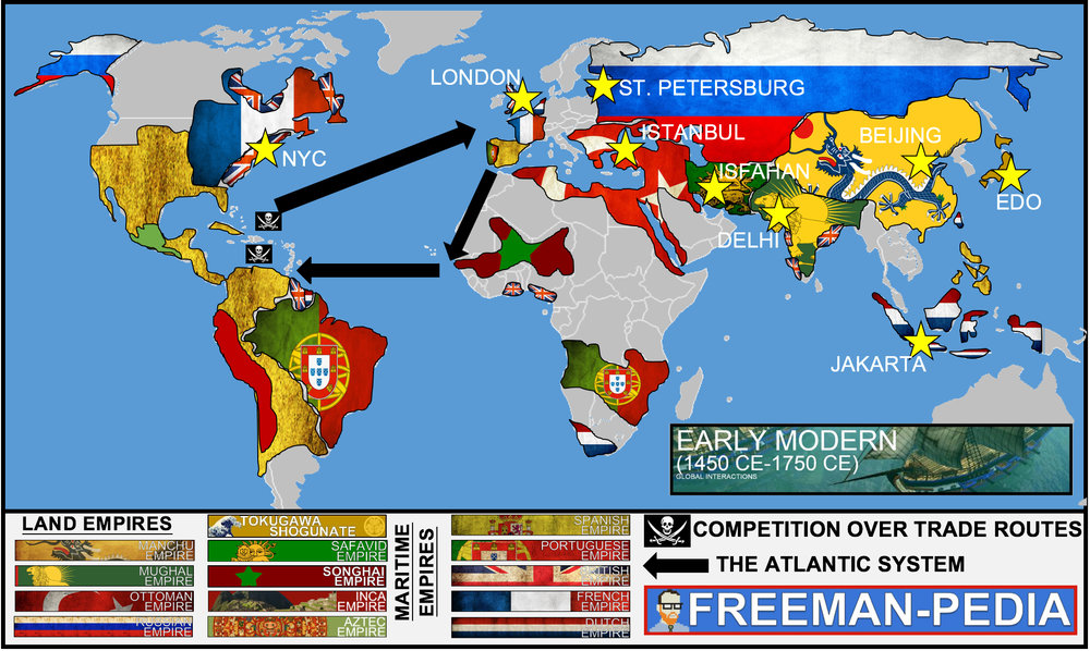 Early modern 1450 1750 freemanpedia the above map was created using the geographic references from this era in the ap world gumiabroncs