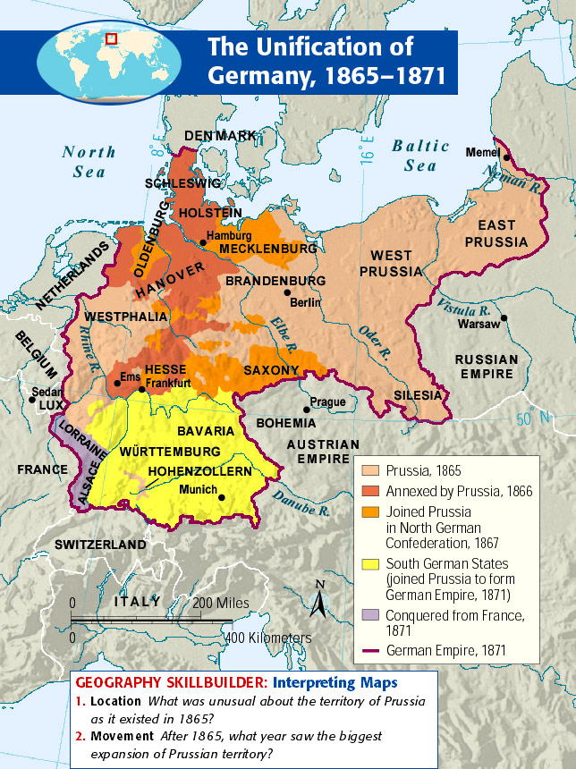 Map Of Germany Pre Unification.19th Century Europe Freemanpedia