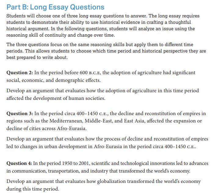 ap history essay questions   ap us history long essay example  ap history essay questions