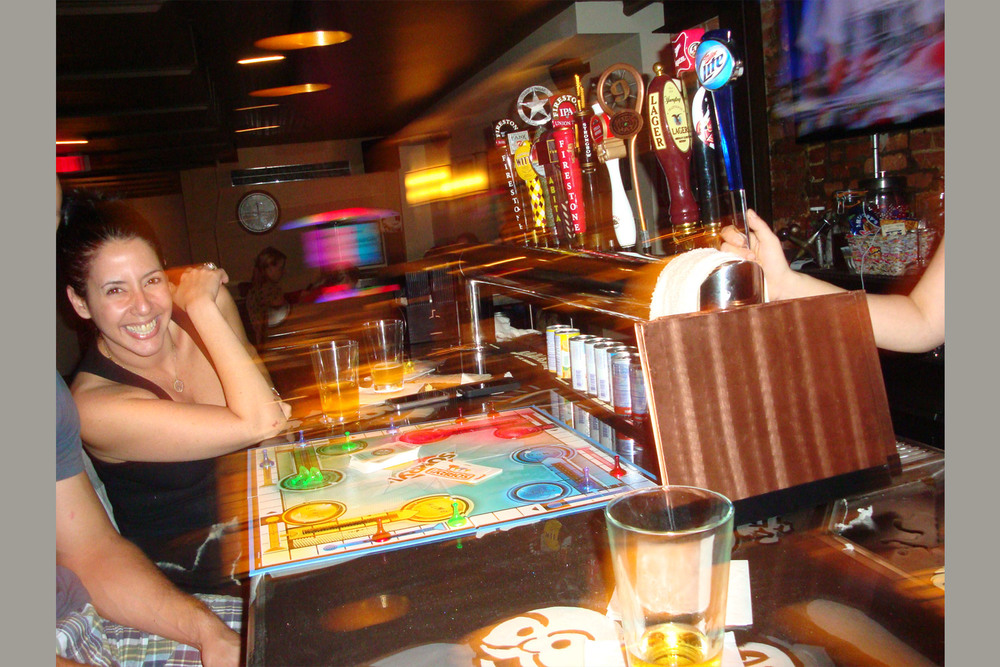 Play board games at the bar