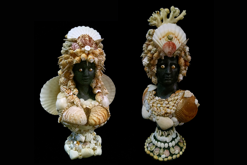 Shell Encrusted Busts
