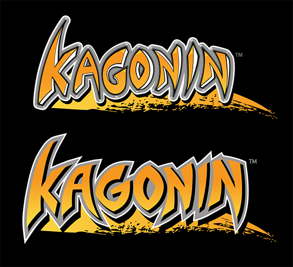The original Kagonin logo (top) and the re-designed 2014 logo (bottom)