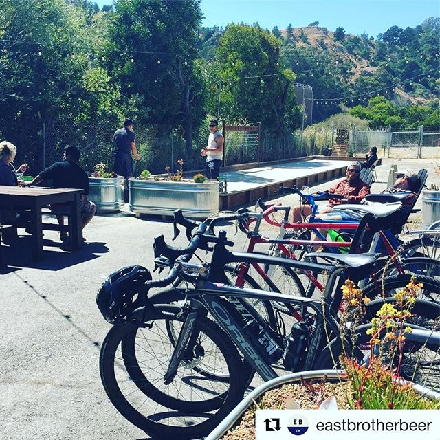 @eastbrotherbeer caught us chilling out yesterday on the way back to Berkeley. It was a perfect pit stop after a long Point Reyes hike and the pilsner was especially delicious on a sunny summer afternoon.  #Repost @eastbrotherbeer (@get_repost) ・・・ Bikes. Bocce. Beer. #saturday #taproom #craftbeer #bocce #bikeriding #drinklocal #richmondca