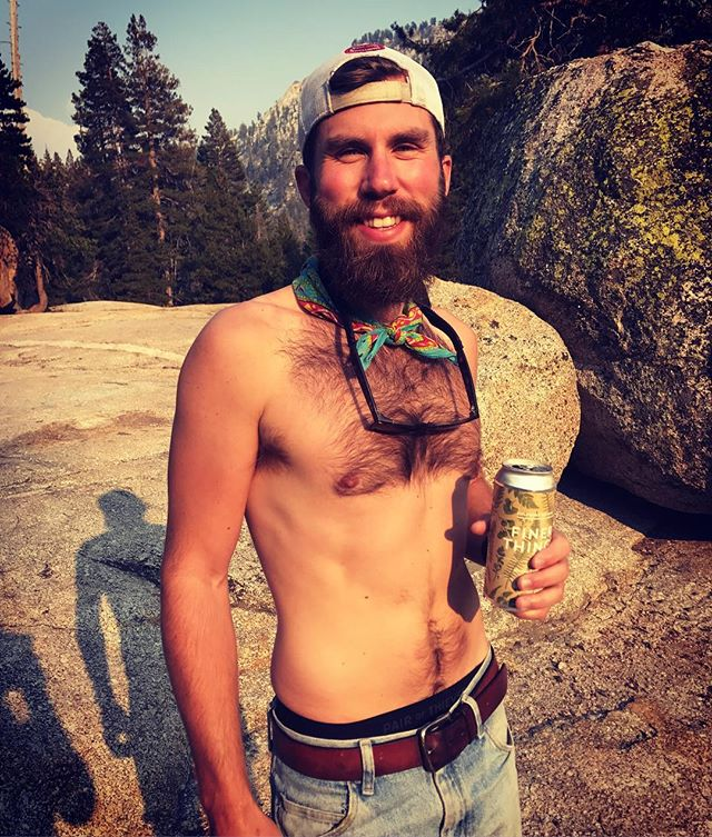 Happy Labor Day weekend from Emigrant Wilderness! Cooling down after a hot hike and mountain lake swim with 'Finer Things', a crushable hoppy light lager from @fieldworkbrewingco #labordayweekend #lager #mountains #backpacking #leavenotrace #sierranevada