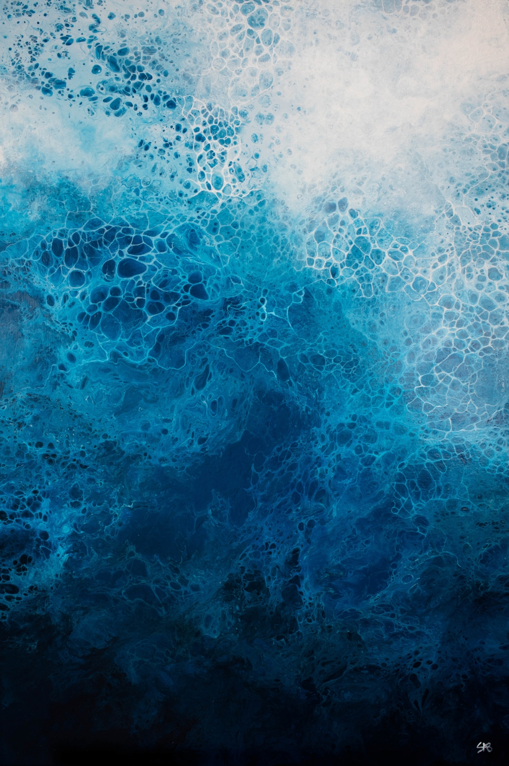 Abstract Art, Fluid Acrylic, Blue Abstract Art, Abstract Artist in Richmond VA