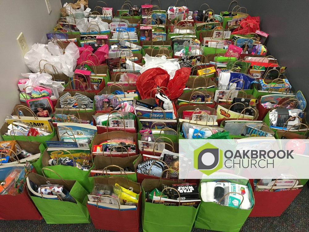 Oakbrook Kids partnered with us to provide 102 boxes to our students this year! Thank you.