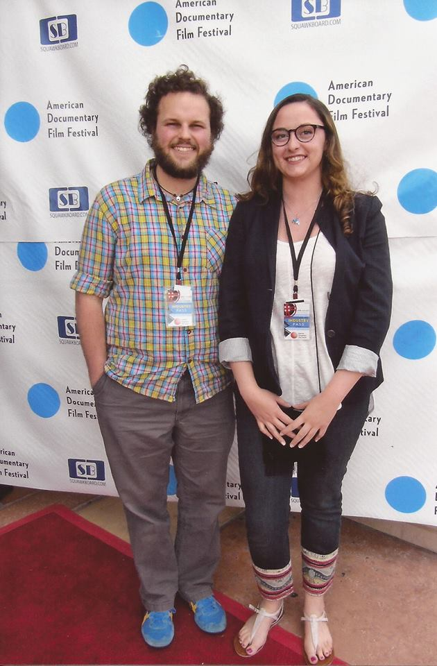 Greg and Sarah at the American Documentary Film Festival.