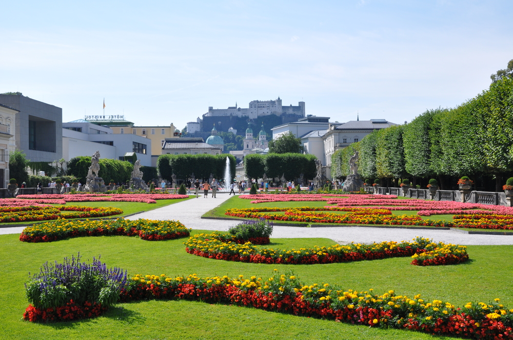 Mirabell Palace and Gardens, located in Salzburg, Austria.