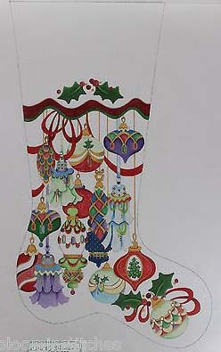 multicolor christmas ornaments stocking strictly christmas cs 151p - Strictly Christmas Needlepoint