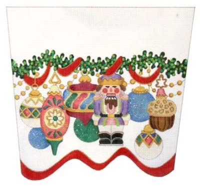 nutcracker ornament cuff strictly christmas csc 54 - Strictly Christmas Needlepoint