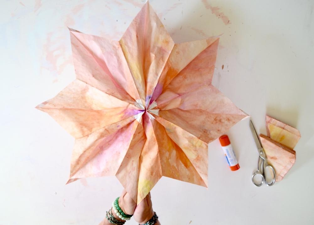 DIY Paper Bag Star