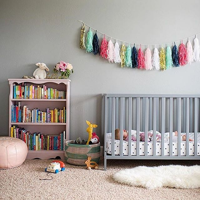 This nursery has us all 😍😍 @mrs.emilysmith moving into her new home #tasselgarland first 👍