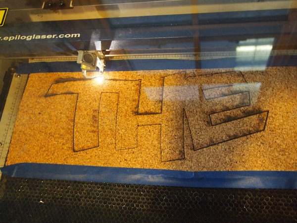 Laser cutter at work.