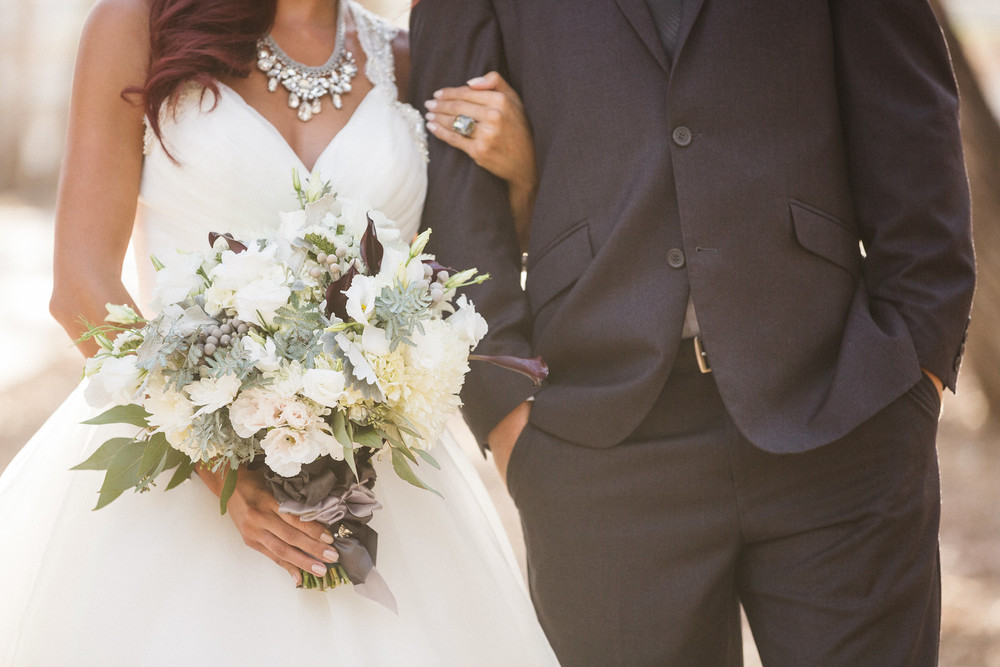 romantic gray wedding