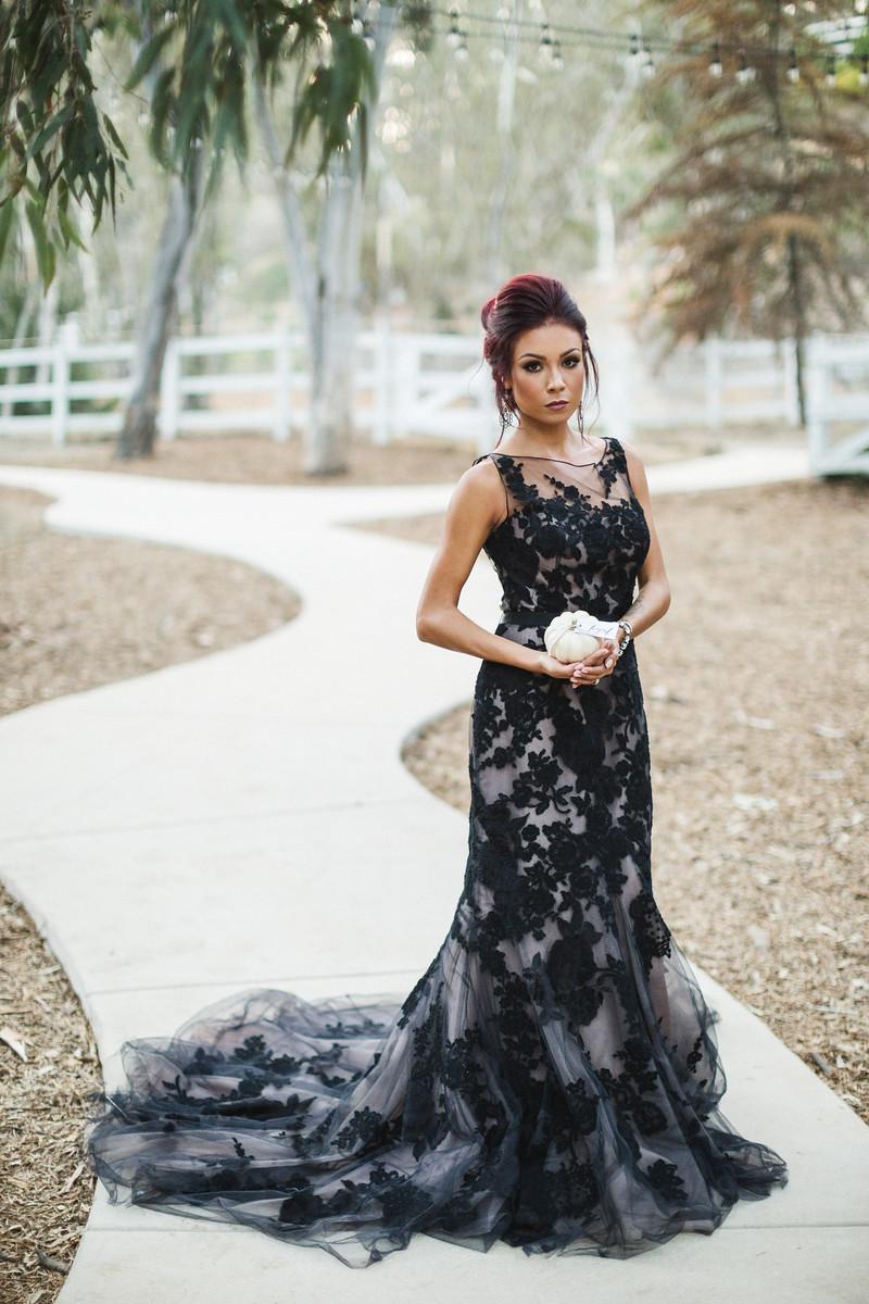 modern halloween bride