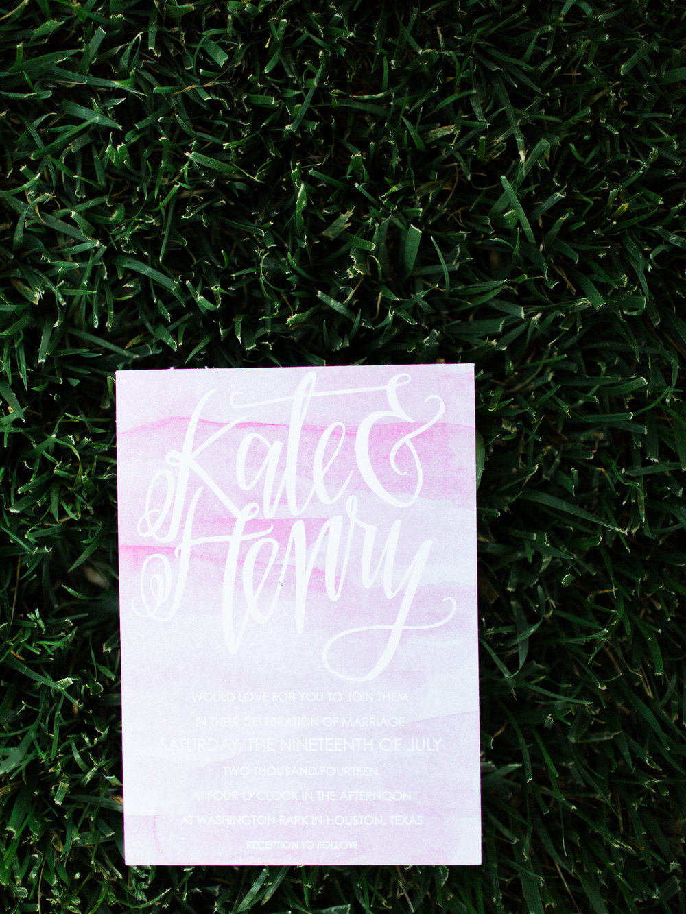 Watercolor wedding paper goods