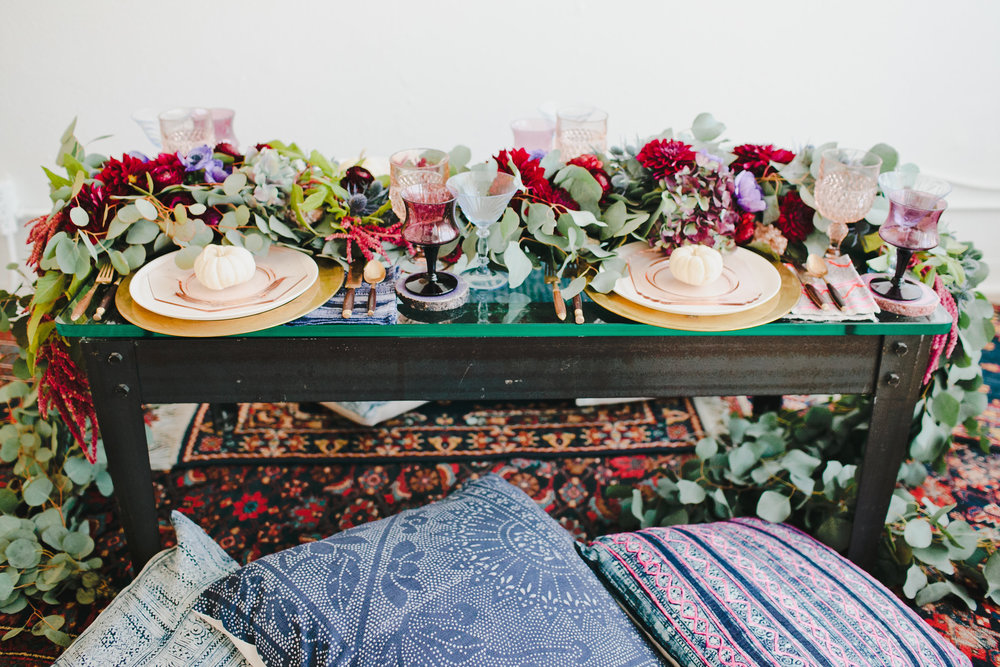 Boho Thanksgiving table