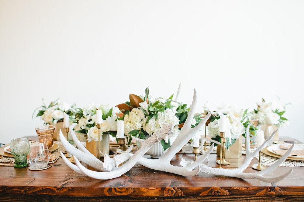 Deer antler styled table