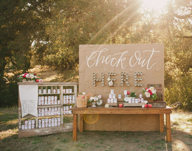 Orchard wedding custom backdrop
