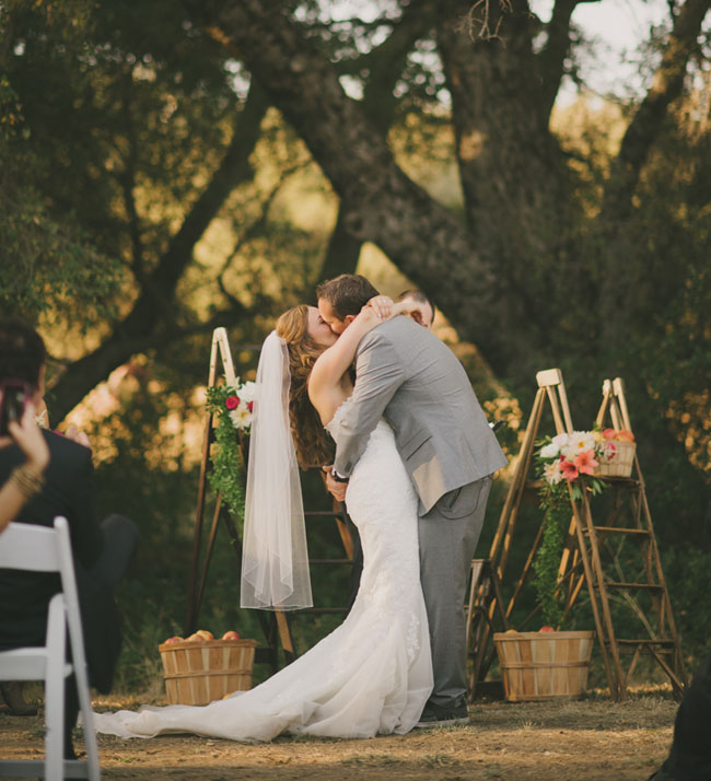 Orchard fall wedding
