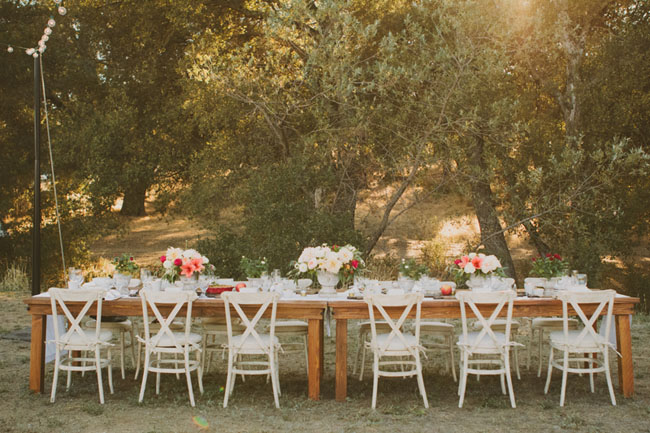 Orchard fall wedding reception