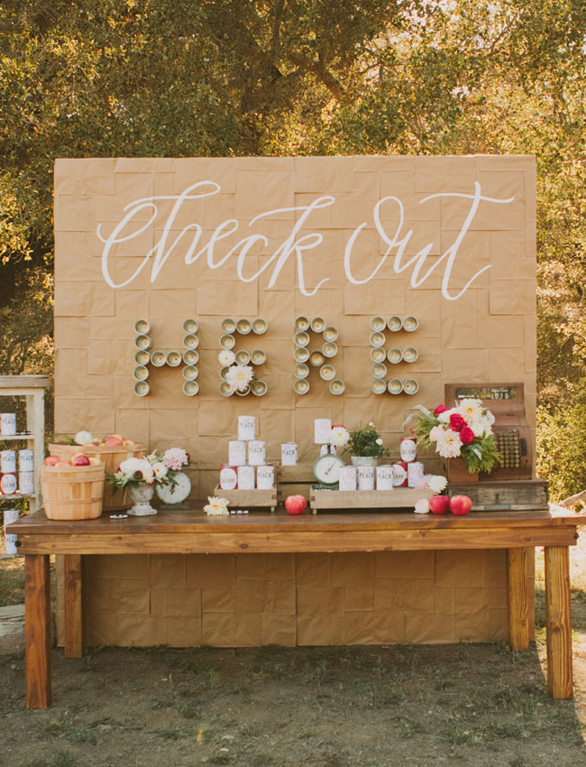 Unique wedding backdrop calligraphy