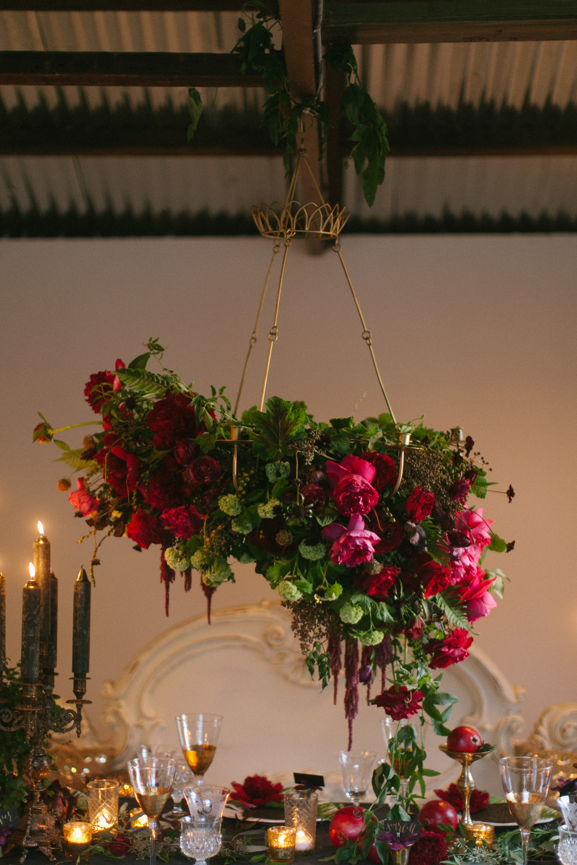 hanging floral chandelier
