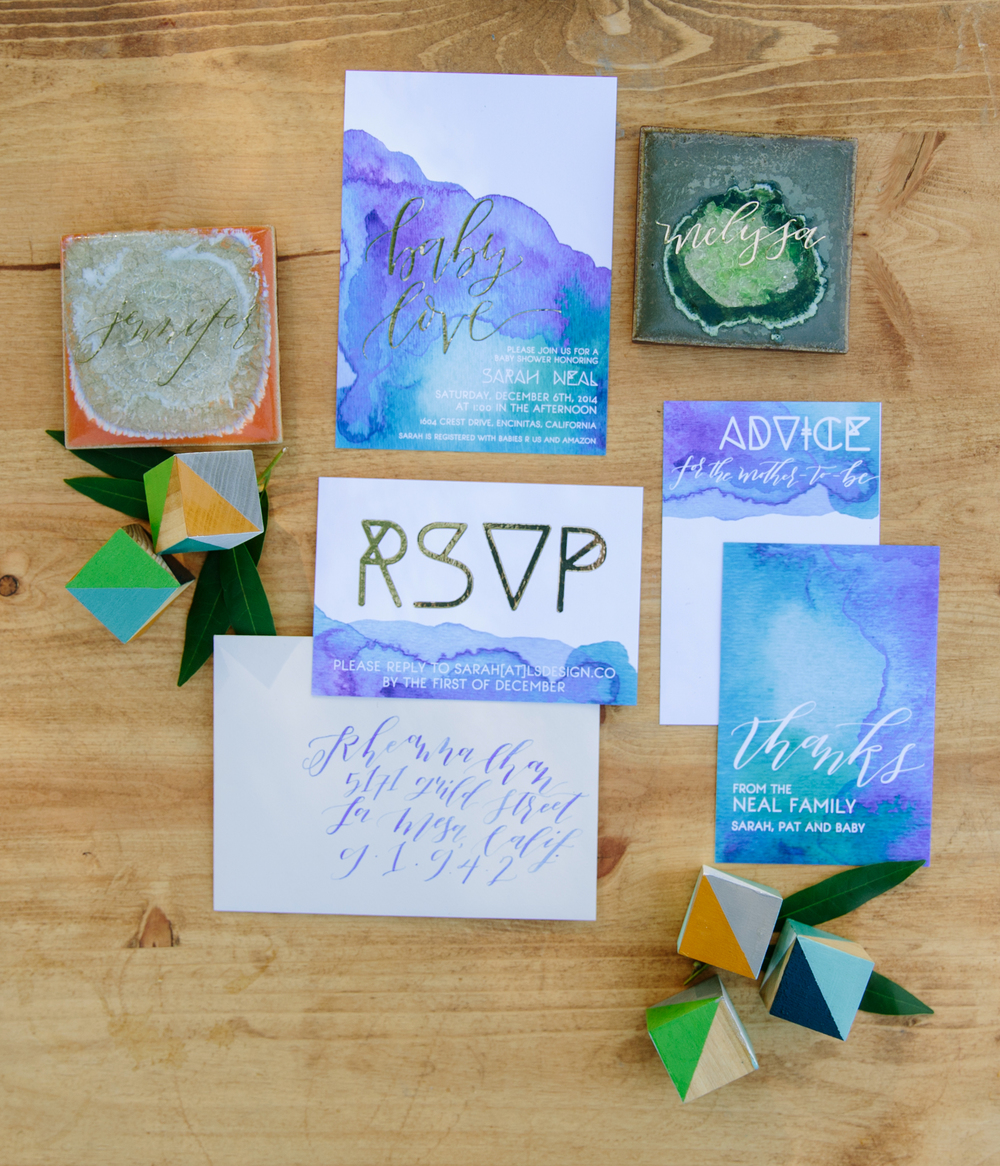 Modern watercolor baby shower