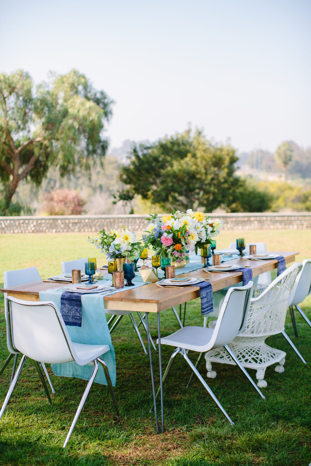 Outdoor modern baby shower
