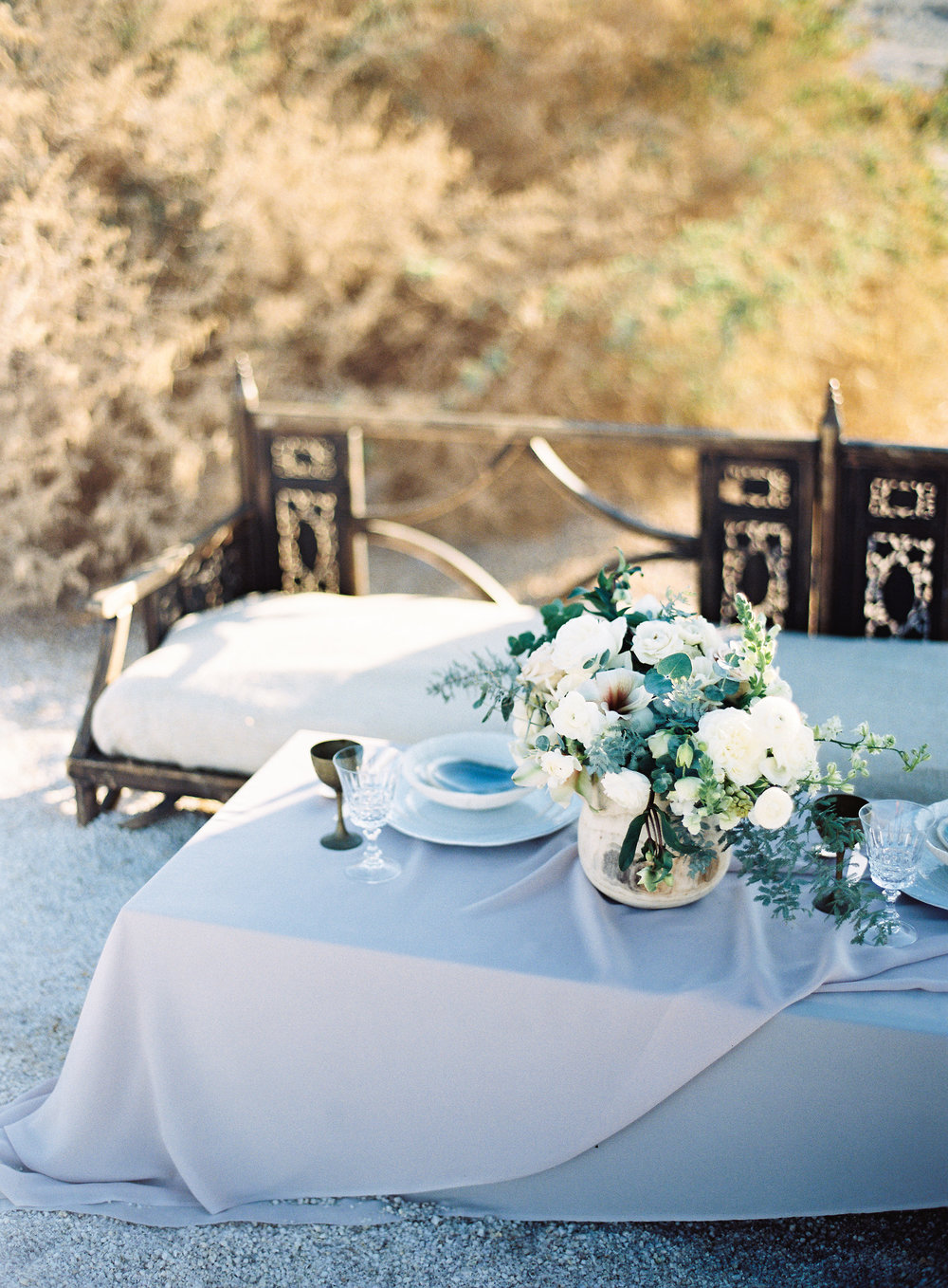 neutral wedding table