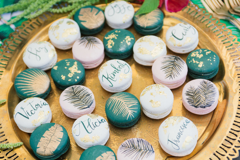 Tropical macaroons