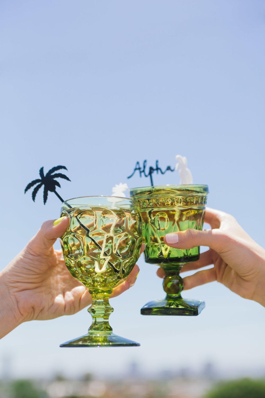 Aloha drink stirrers