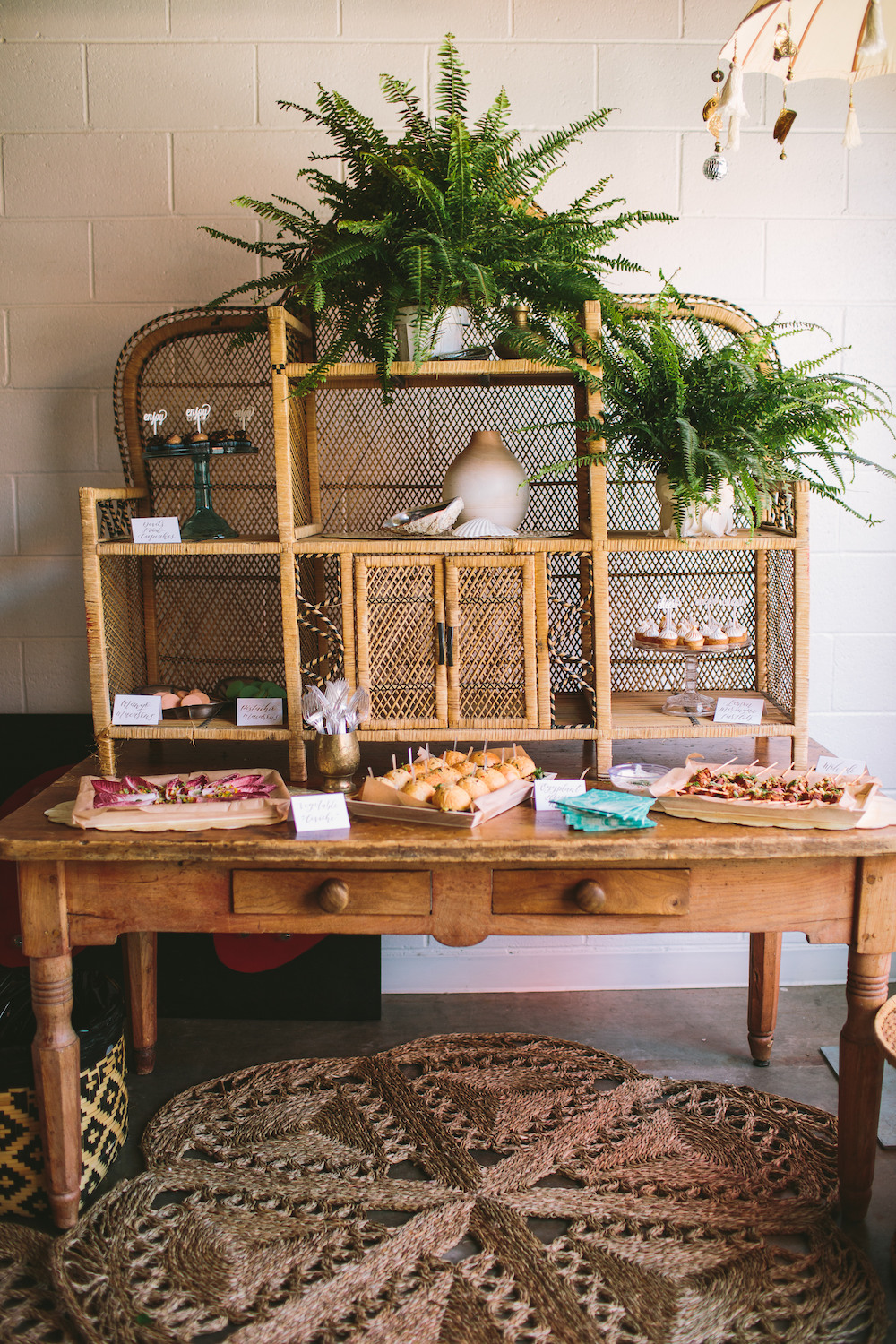 Bohemian food display