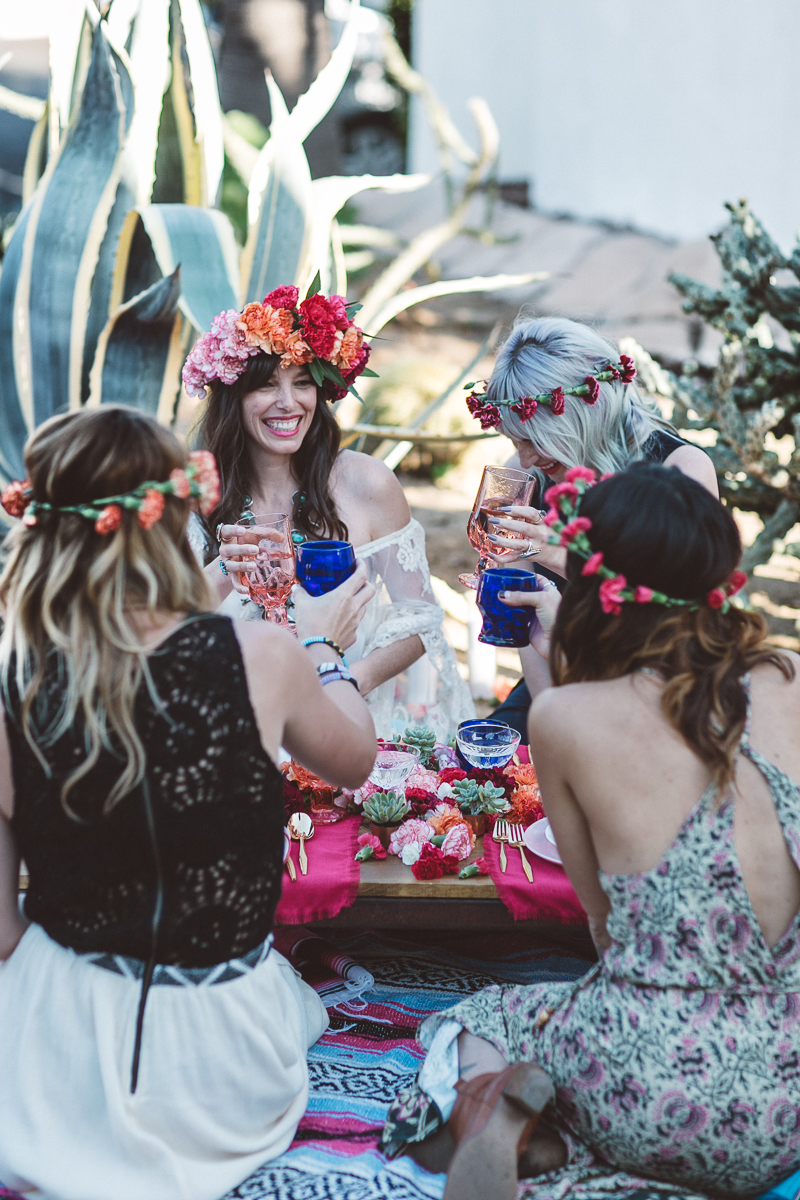Bohemian bridal shower fiesta