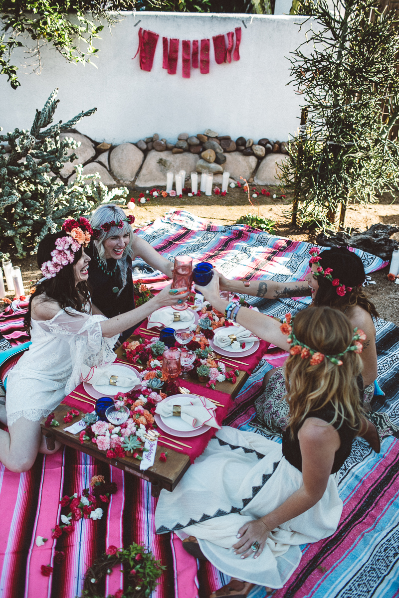 Outdoor boho fiesta