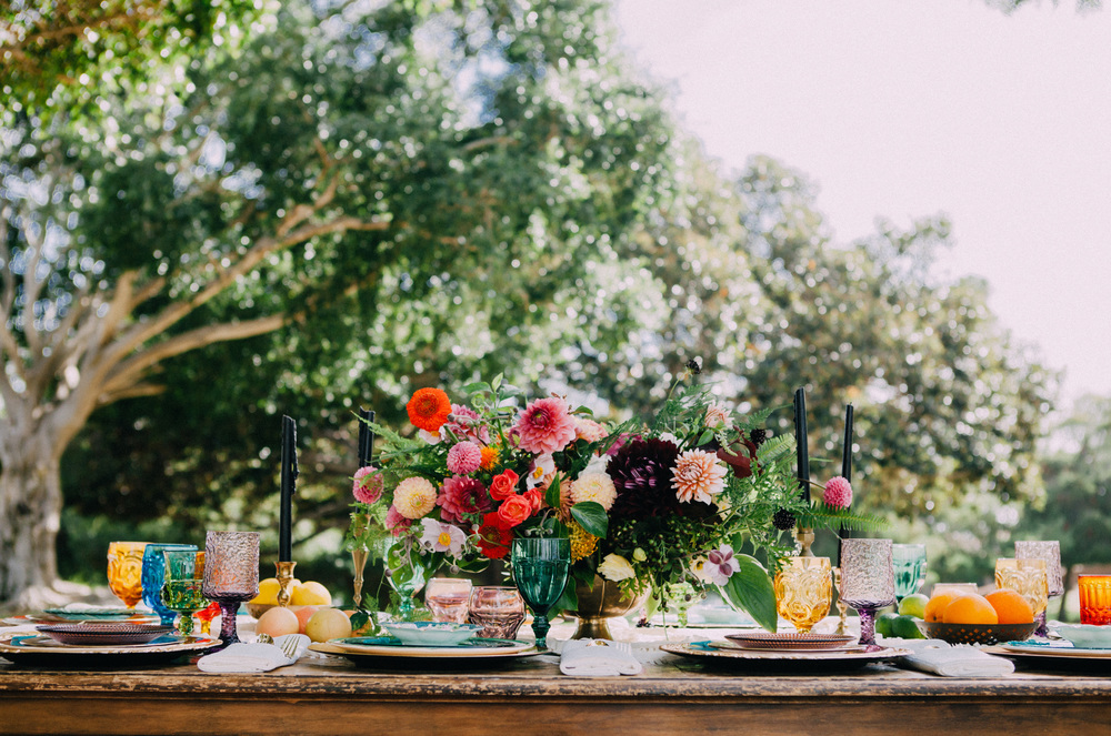 Colorful outdoor bridal shower