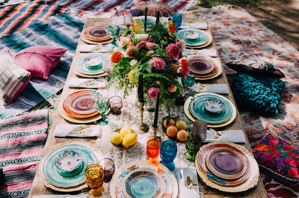 Bohemian outdoor bridal shower