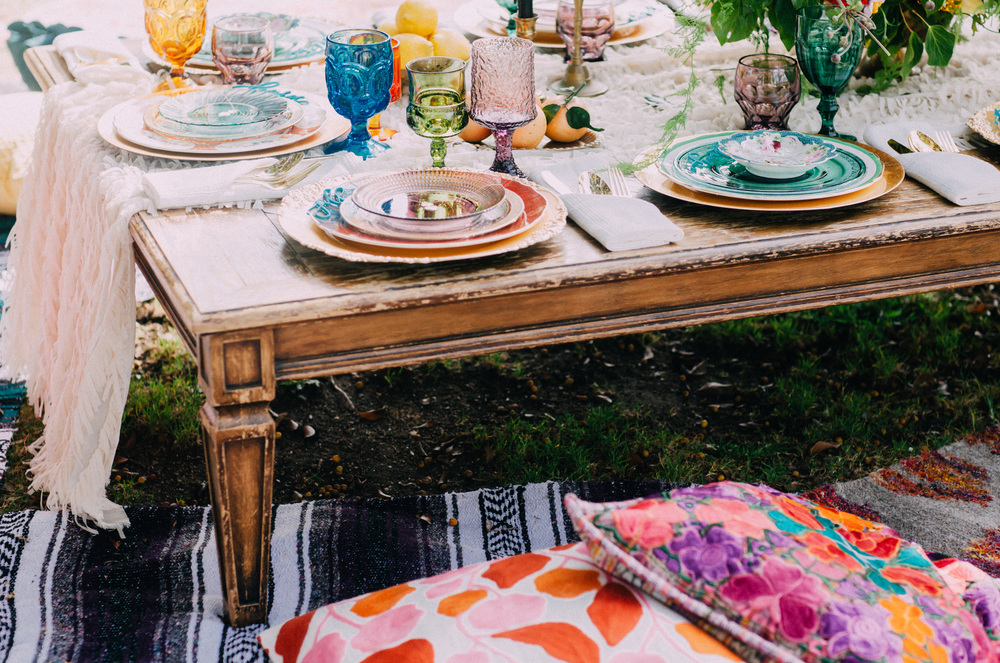 Outdoor colorful bridal shower