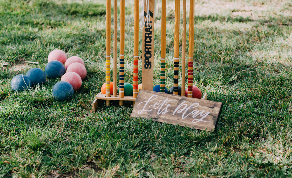 Outdoor bridal shower games