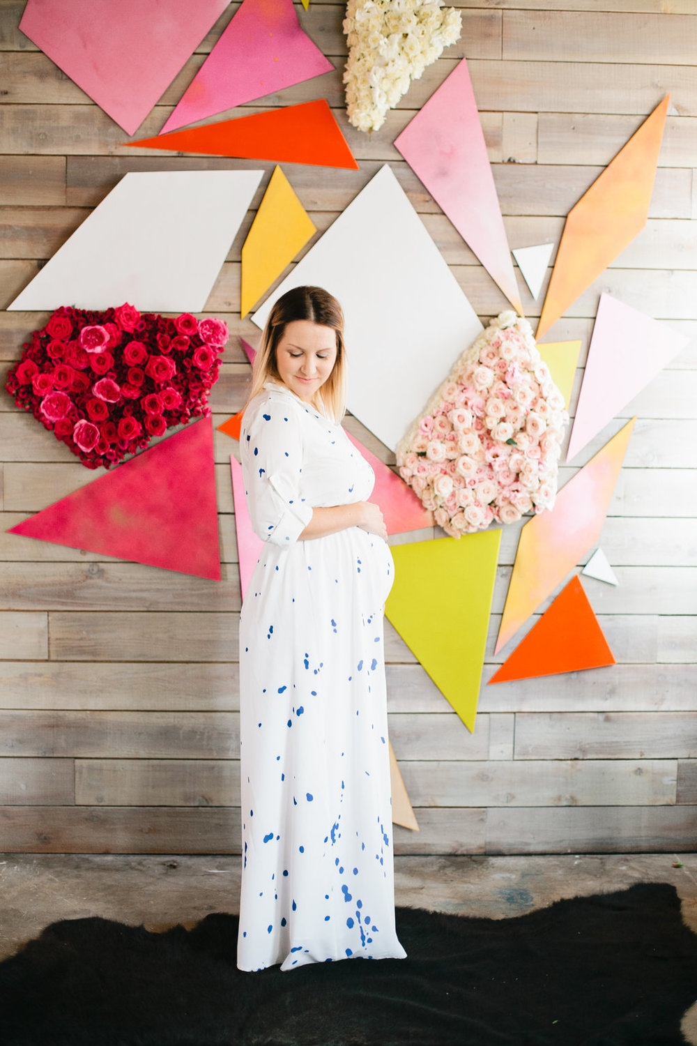 geometric kaleidoscope baby shower