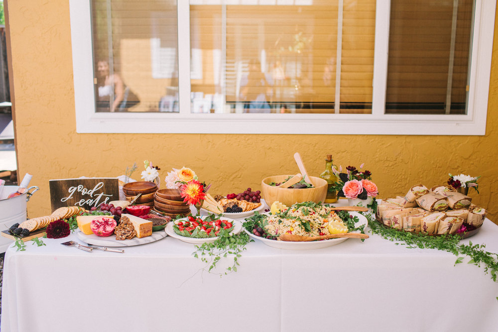 Bridal shower lunch spread