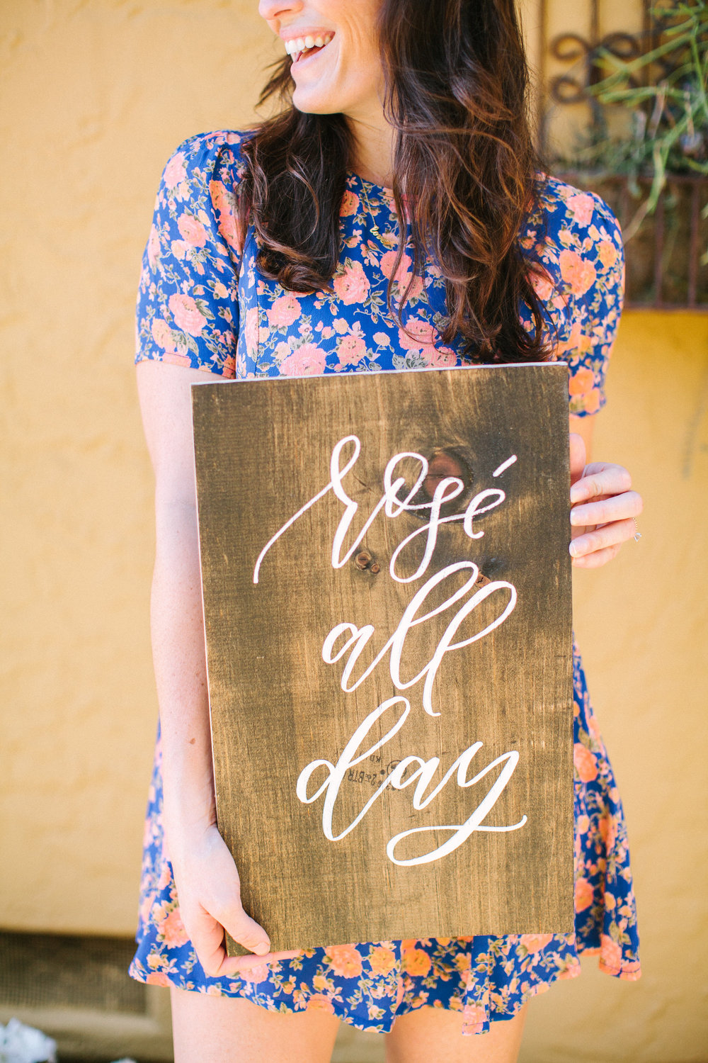 Rosé All Day hand lettered signage